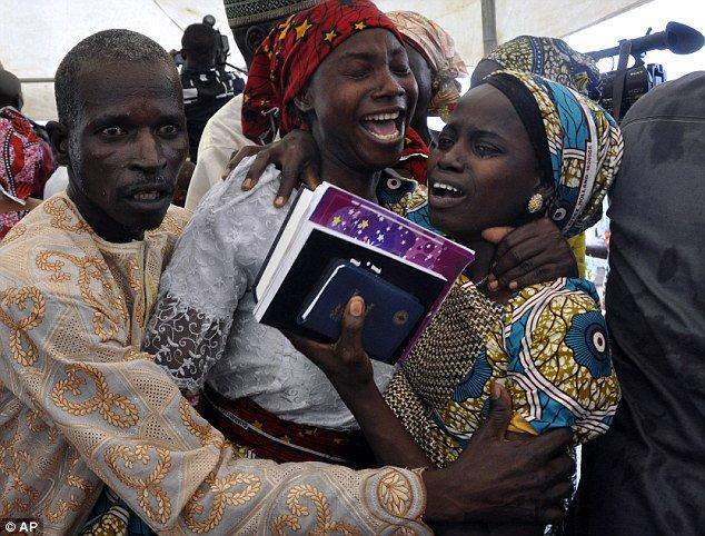After over 2 years in captivity the Chibok girls are finally returned to their families.