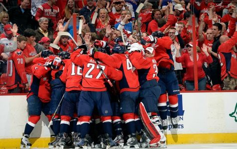 The Washinton Capitals celebrating one of their many victories!