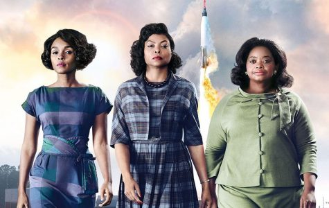 Mary Jackson, played by Janelle Monáe,  Katherine Johnson, played by Taraji P. Henson, and Dorothy Vaughan played by Octavia Spencer, creating history.