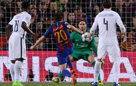 Sergi Roberto scores to put Barcelona in the Quarter Finals