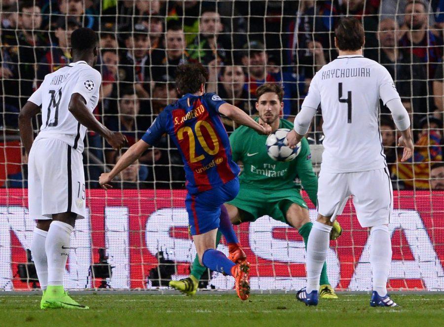 Sergi+Roberto+scores+to+put+Barcelona+in+the+Quarter+Finals