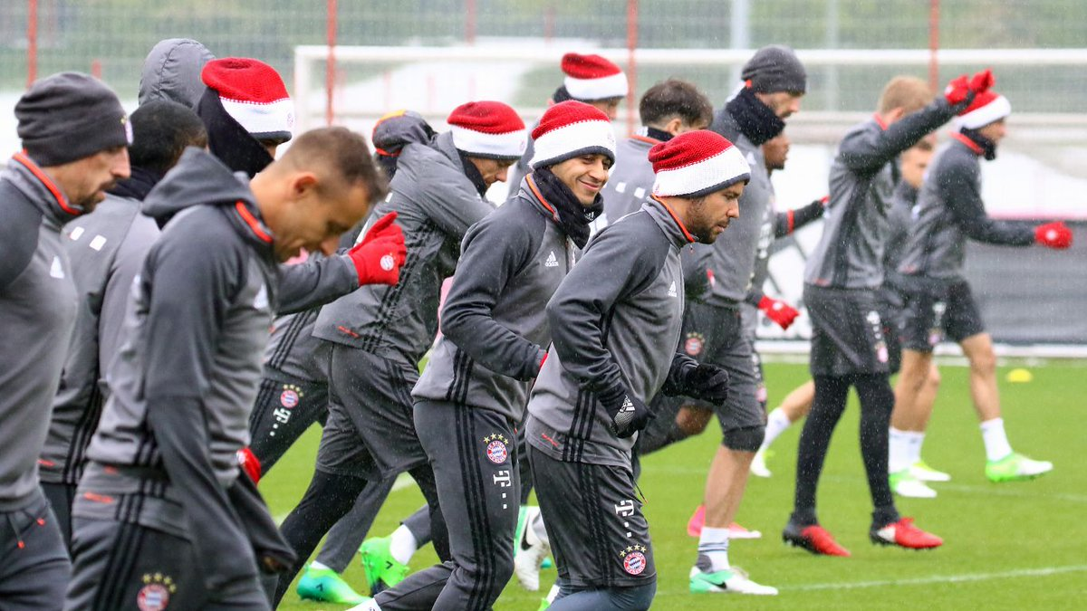 Bayern in Practice. Photo found on twitter: @FcBayern