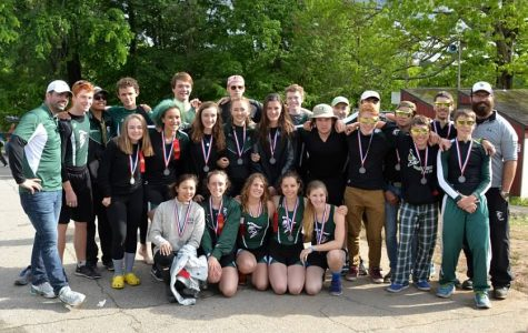 All the boats who raced on day two and their coaches.