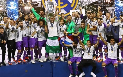 Real Madrid lift the trophy!