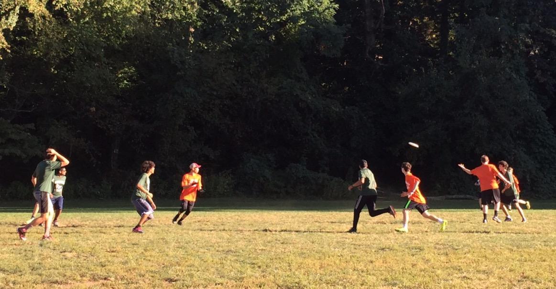 Wakefield Ultimate Frisbee plays against HB Woodlawn.