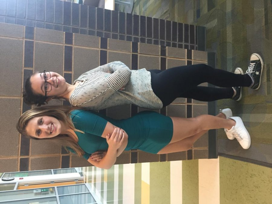 Club leaders Haley Kerby (lefts) and Saleha Hoffman (right)