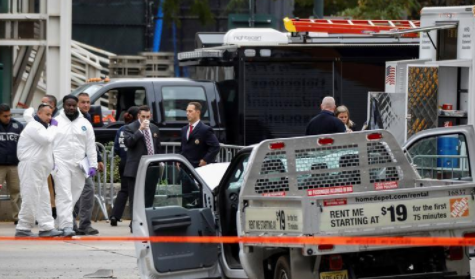 The truck (pictured here) killed 8 people and injured 12.