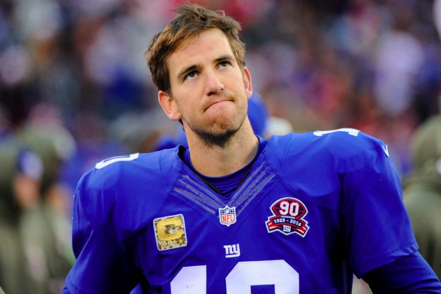 2 Time Super Bowl Champion Eli Manning was benched this week (Photo found at https://tinyurl.com/yaeavpmn)