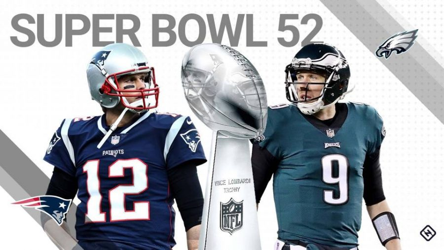 The Eagles and Patriots are  ready to meet in Super Bowl 52. (Photo found at https://tinyurl.com/y8nhzmdz)