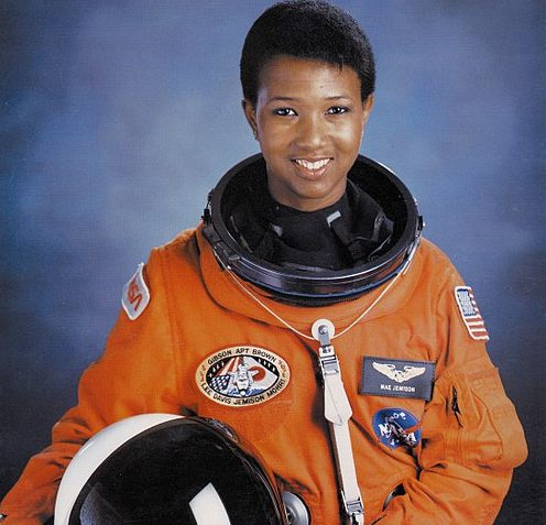 Dr. Mae C. Jameson is the first African American woman in space. Look at her glow.