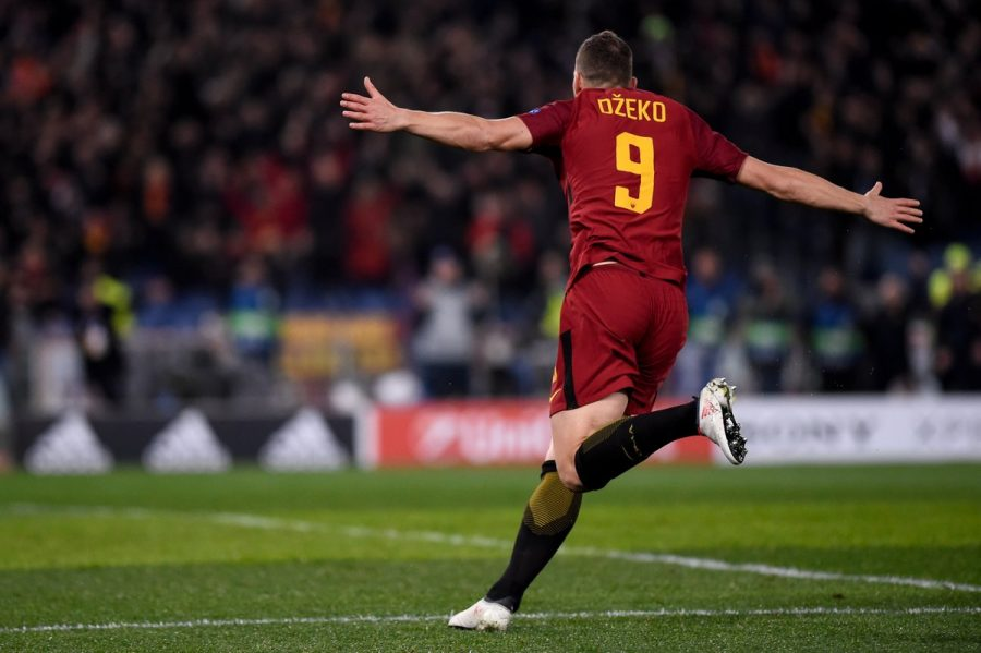 Edin Dzeko scoring the winning goal.