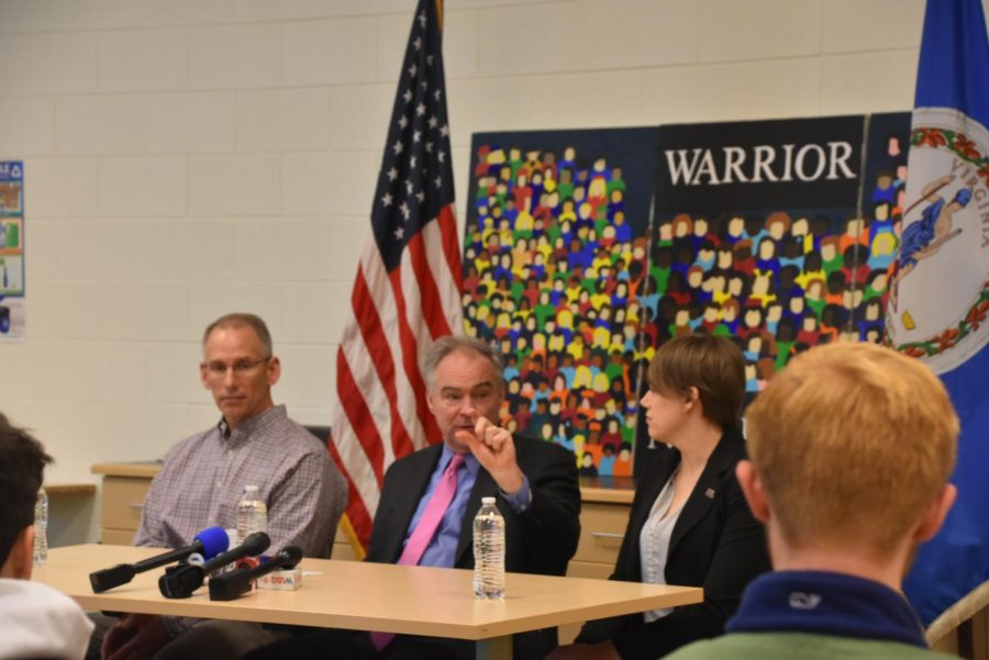 Senator Tim Kaine Visits Wakefield To Talk Gun Control Measures