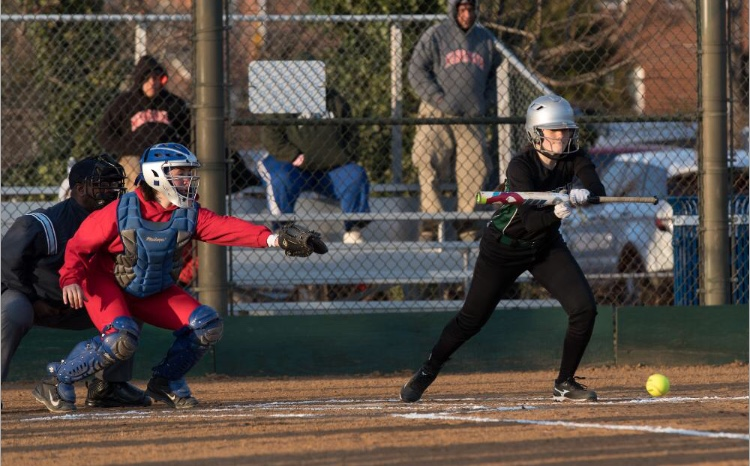 A perfect bunt placed by number #2.