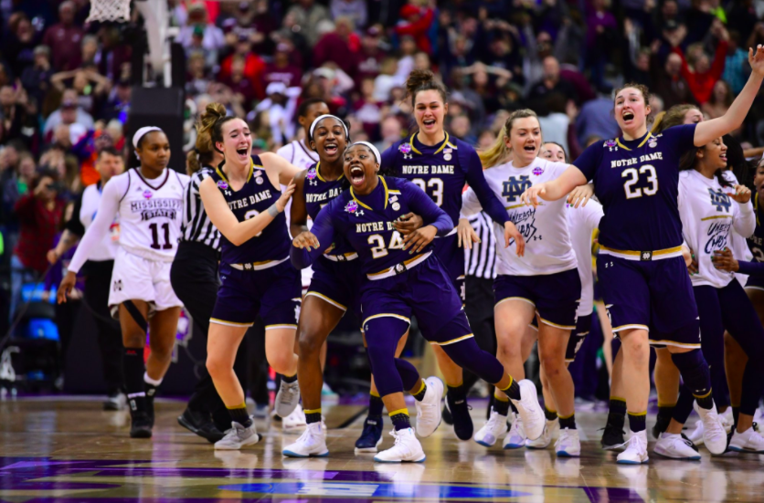 Arike Ogunbowale hits the game winning shot to win the National Championship for the Irish