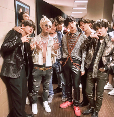 BTS with Lil Pump at Billboard Music Awards.