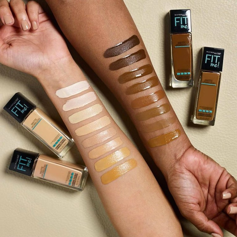 Image result for maybelline fit me foundation color chart