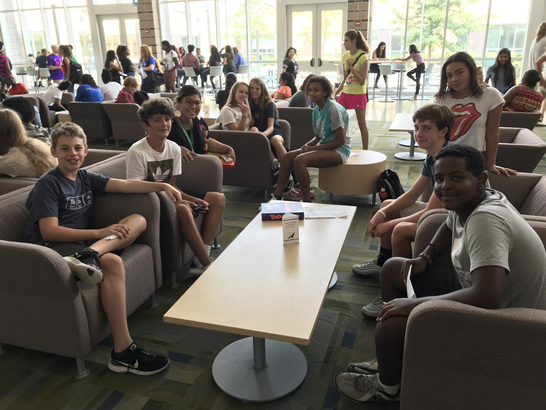 The Freshmen class get to know Wakefield at Freshmen Orientation before school starts.
