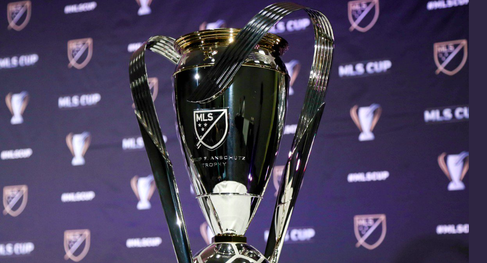 The teams are fighting for this trophy, the MLS Cup.
