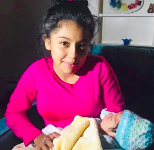 Maryury Elizabeth Serrano-Hernandez was determined to have her baby in America.