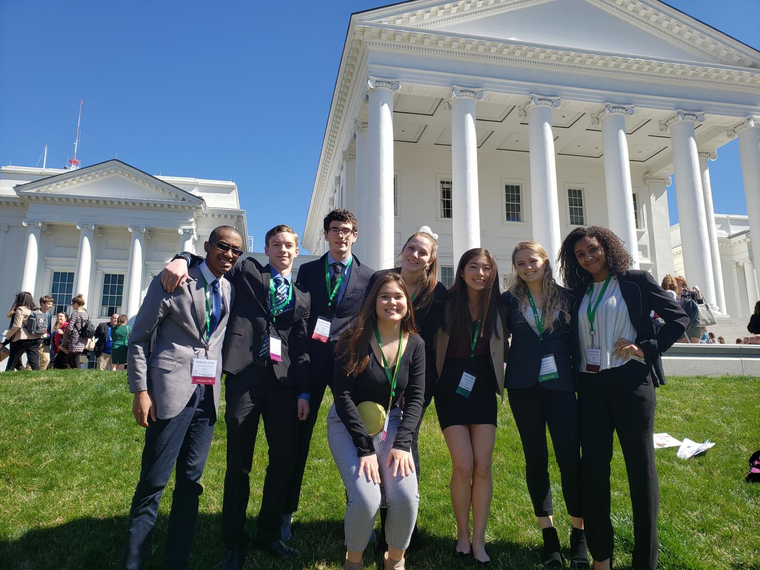 Isaiah (the author) is 3rd from left on a field trip with the Model General Assembly in March. This year's team got Virginia's Youth Governor to sign two bills: restoring voting rights to former felons, and amending the definition of Hate Crimes to include crimes against LGBTQ.