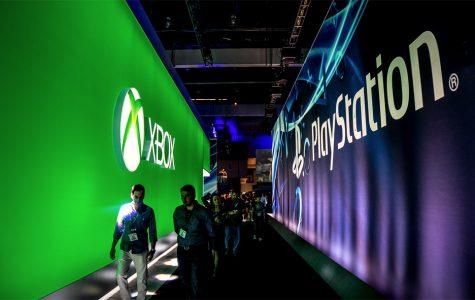 Xbox-PlayStation hallway at E3 2016.