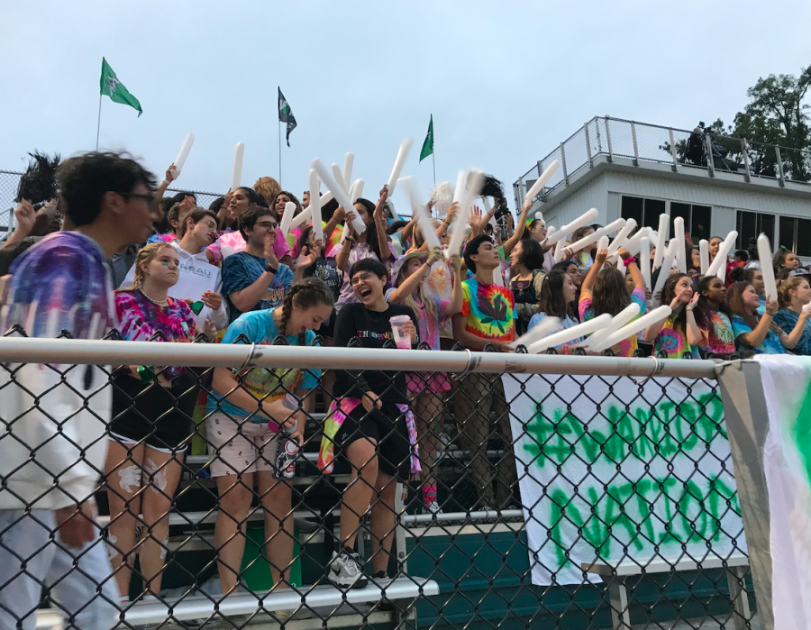 Superfans+at+the+first+home+game+of+the+year+against+Yorktown.+