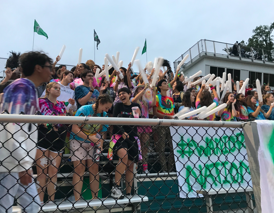 Superfans at the first home game of the year against Yorktown.