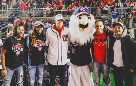 Mystics at the Nationals World Series clinching game on Tuesday night.