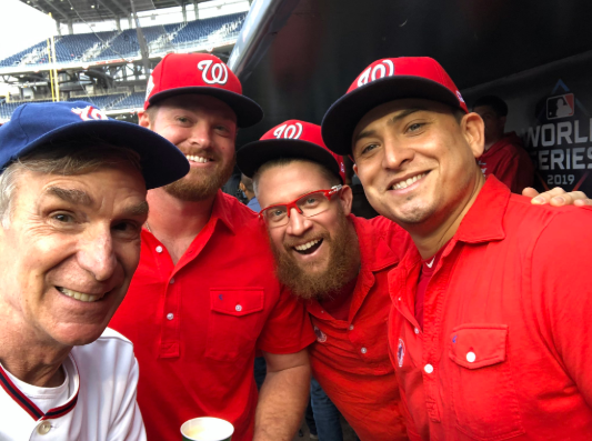 Even Bill Nye got into the Nats hype.