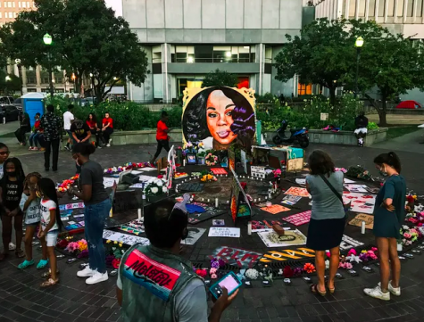 The memorial for Breonna Taylor at Jefferson Square Park in Downtown Louisville, KY.