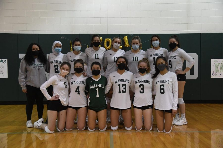 Varisty Volleyball on March 19th vs. Falls Church.
