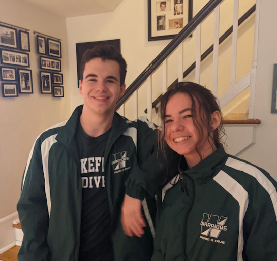 Will and Ellie Kisor in their Wakefield Spirit Gear.